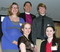 Bishop Franklin and some 2011 DeVeaux Scholars