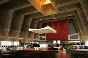 The sanctuary of St. John's Abbey Church. © Richard Anderson 2011